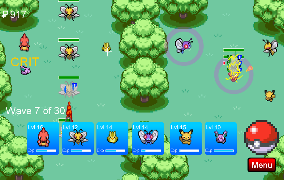 pokemon towerdefence